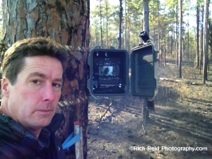 Time-lapse camera in Moody Forest.