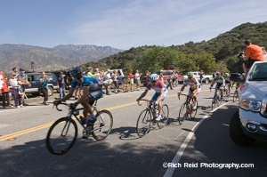 Thomas Danielson,  Levi Leipheimer,  Floyd Landis and George Hincapie during stage 6 of the Tour of California in Ojai, California.