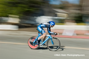 Ivan Basso riding the time trial during stage 5 of the 2007 Tour of California in Solvang, California.