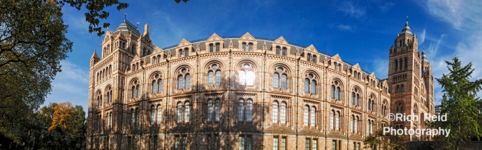 Pano of the Waterhouse Building at the Natural History Museum in London, UK.