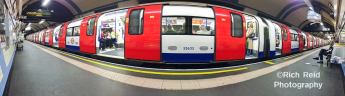 Panorama of The Underground in London, UK.